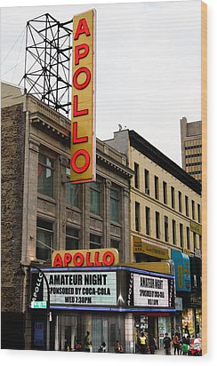 New York City - Apollo Theater  Wood Print by Russell Mancuso