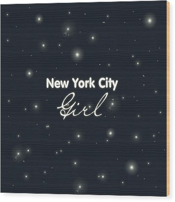New York City Girl Wood Print by Pati Photography