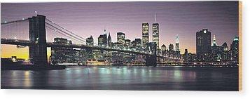 New York City Skyline Wood Print by Jon Neidert