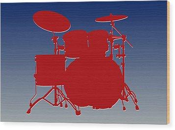 New York Giants Drum Set Wood Print by Joe Hamilton