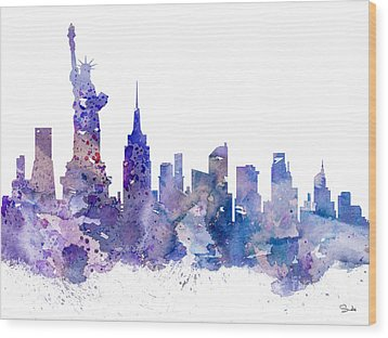 New York Wood Print by Luke and Slavi