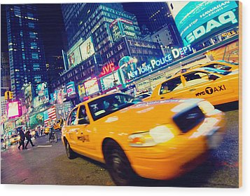 New York - Times Square Wood Print by Alexander Voss