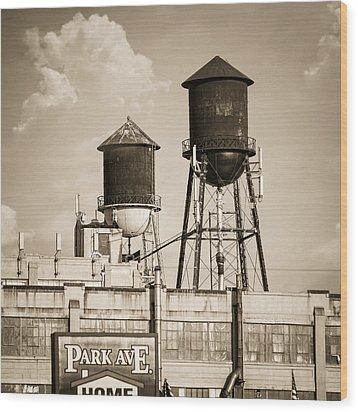 New York Water Tower 8 - Williamsburg Brooklyn Wood Print by Gary Heller