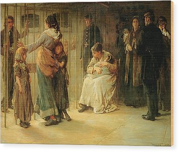 Newgate Committed For Trial, 1878 Wood Print by Frank Holl