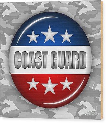 Nice Coast Guard Shield 2 Wood Print by Pamela Johnson