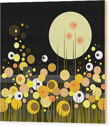 Night Blooming Flowers Wood Print by Val Arie