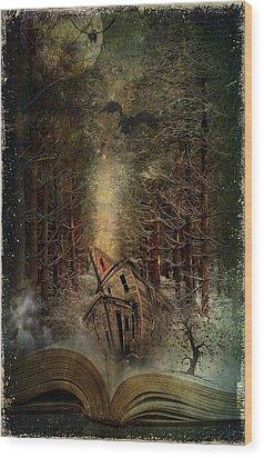 Night Story Wood Print by Svetlana Sewell
