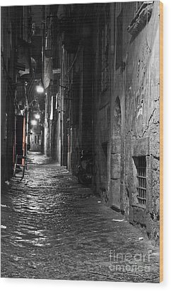 Night-time Wood Print by Marion Galt