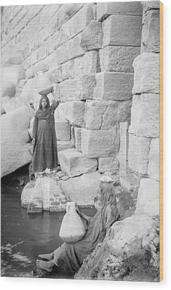 Nilometer On Elephantine Island, Egypt Wood Print by Science Photo Library