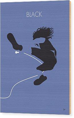 No008 My Pearl Jam Minimal Music Poster Wood Print by Chungkong Art