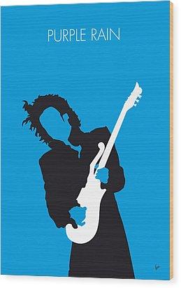 No009 My Prince Minimal Music Poster Wood Print by Chungkong Art