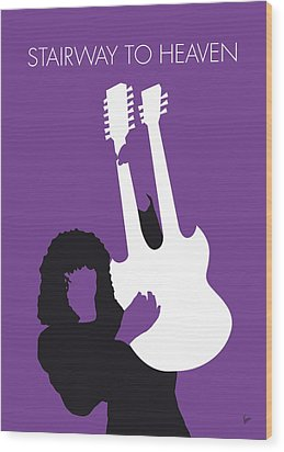No011 My Led Zeppelin Minimal Music Poster Wood Print by Chungkong Art