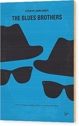 No012 My Blues Brother Minimal Movie Poster Wood Print by Chungkong Art