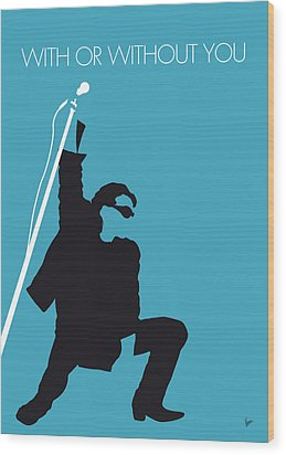 No035 My U2 Minimal Music Poster Wood Print by Chungkong Art