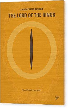 No039 My Lord Of The Rings Minimal Movie Poster Wood Print by Chungkong Art