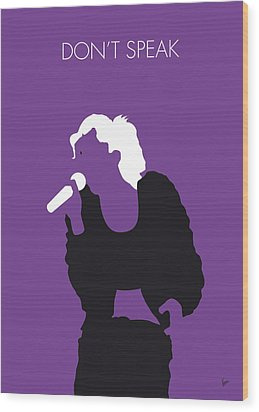 No051 My No Doubt Minimal Music Poster Wood Print by Chungkong Art