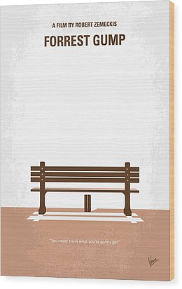 No193 My Forrest Gump Minimal Movie Poster Wood Print by Chungkong Art
