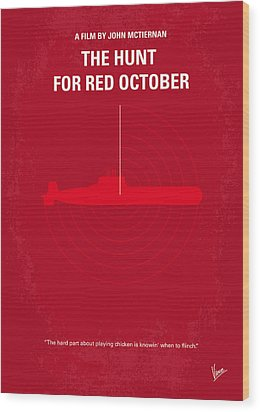 No198 My The Hunt For Red October Minimal Movie Poster Wood Print by Chungkong Art