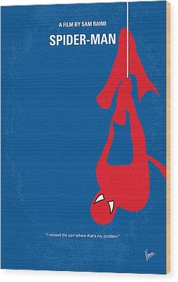 No201 My Spiderman Minimal Movie Poster Wood Print by Chungkong Art