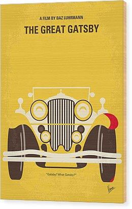 No206 My The Great Gatsby Minimal Movie Poster Wood Print by Chungkong Art