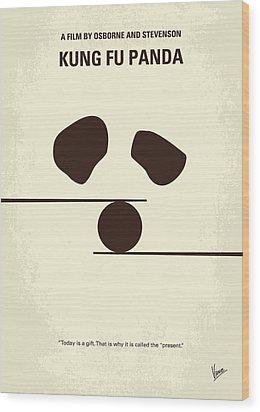 No227 My Kung Fu Panda Minimal Movie Poster Wood Print by Chungkong Art