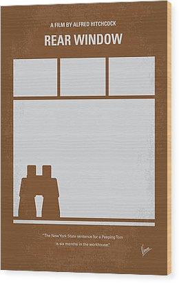 No238 My Rear Window Minimal Movie Poster Wood Print by Chungkong Art
