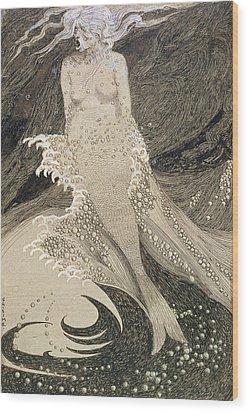 The Mermaid Wood Print by Sidney Herbert Sime