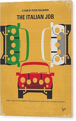 No279 My The Italian Job Minimal Movie Poster Wood Print by Chungkong Art