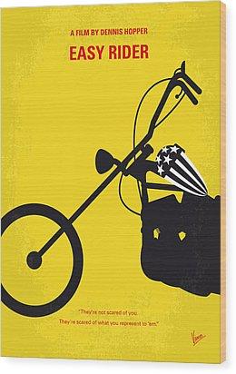 No333 My Easy Rider Minimal Movie Poster Wood Print by Chungkong Art