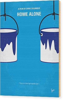 No427 My Home Alone Minimal Movie Poster Wood Print by Chungkong Art