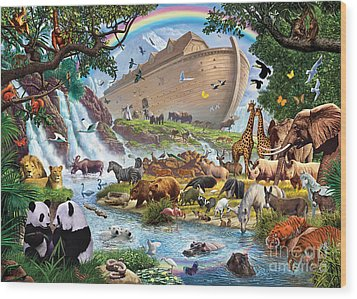 Noahs Ark - The Homecoming Wood Print by Steve Crisp