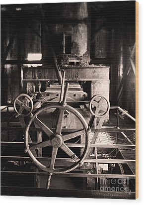 Nobody At The Wheel Wood Print by Royce Howland