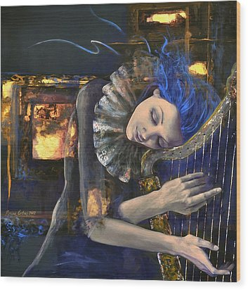 Nocturne Wood Print by Dorina  Costras