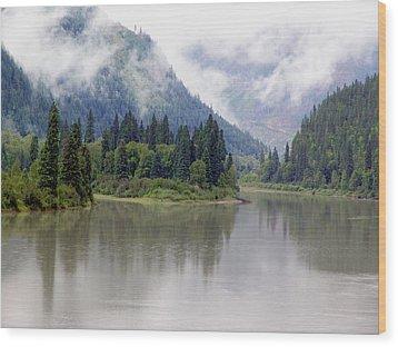 North Thompson River Wood Print by Janet Ashworth