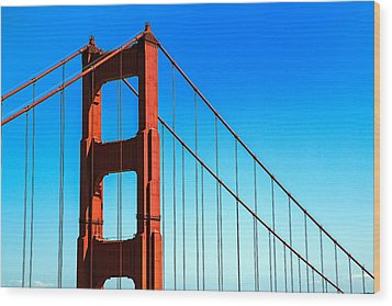 North Tower Golden Gate Wood Print by Garry Gay
