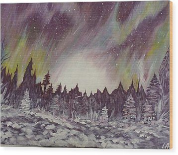 Northern Lights  Wood Print by Irina Astley