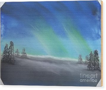 Northern Lights Wood Print by Tracey Williams
