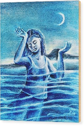 Not Waving But Drowning Wood Print by Trudi Doyle