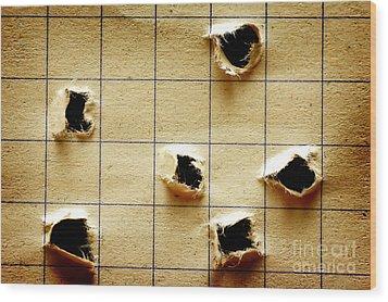 Notebook With Holes Wood Print by Michal Bednarek