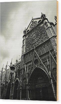 Notre Dame De Paris Wood Print by Cambion Art