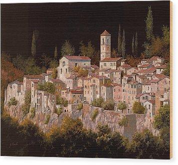 Notte Senza Luna Wood Print by Guido Borelli