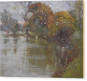 November 4th At Hyde Park Wood Print by Ylli Haruni