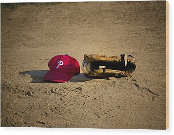 Now Pitching For The Phillies Wood Print by Bill Cannon