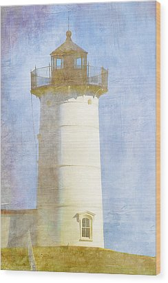 Nubble Lighthouse Wood Print by Carol Leigh