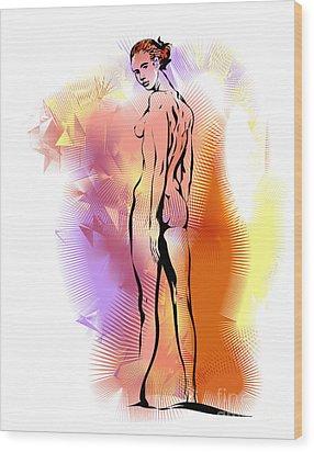 Nude Wood Print by Alex Tavshunsky