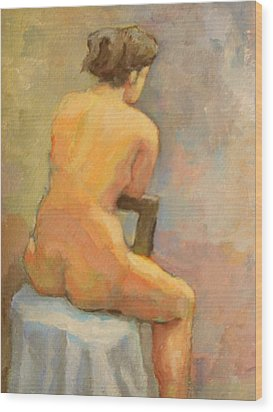 Nude Painting  4 Wood Print by Alfons Niex