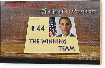 Number 44 - The Winning Team Wood Print by Terry Wallace
