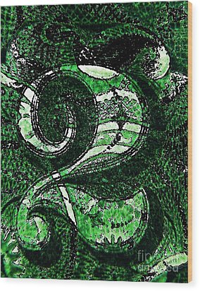 Number Two In Green  Wood Print by Chris Berry