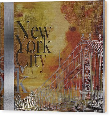 Ny City Collage - 6 Wood Print by Corporate Art Task Force
