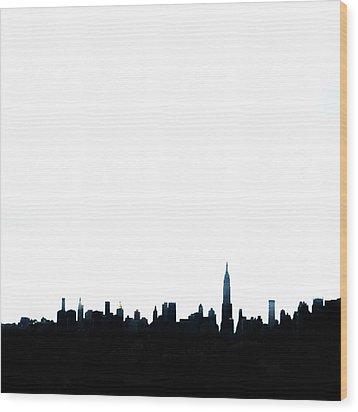 Nyc Silhouette Wood Print by Natasha Marco